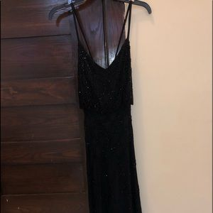 Beautiful Adrianna Papell Crisscross beaded gown
